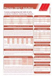 Precios 2012 Adultos - did Deutsch-Institut