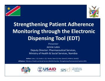 Strengthening Patient Adherence Strengthening Patient ... - INRUD
