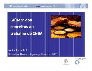 Glúten: dos conceitos ao trabalho no INSA