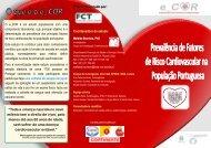 Flyer Prevalência - Instituto Nacional de Saúde Dr. Ricardo Jorge