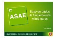 Base de dados de Suplementos Alimentares