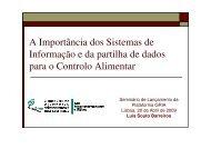 A Importância dos Sistemas de Informação e da partilha de dados ...