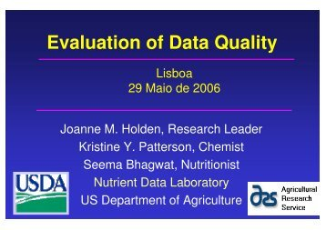 Evaluation of Data Quality