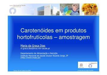 Estudo Caso - Carotenoides em Produtos Hortofrutícolas - Instituto ...