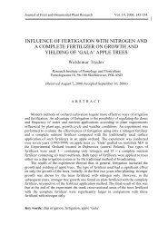 influence of fertigation with nitrogen and a complete fertilizer on ...