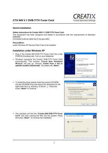 CTX 949 V.1 Dvb-T/Tv-Tuner Card - CREATIX
