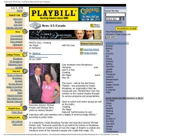 Playbill News: PHOTO CALL: Creating the Magic ... - Inside Broadway
