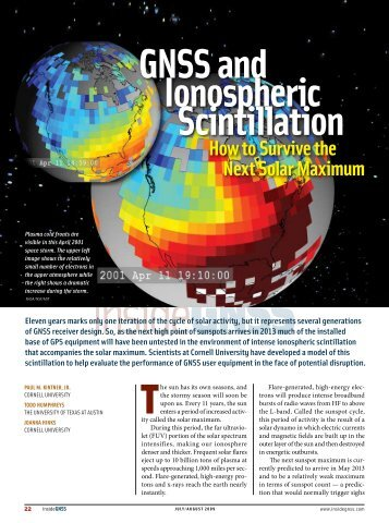 GNSS and Ionospheric Scintillation How to Survive ... - Inside GNSS