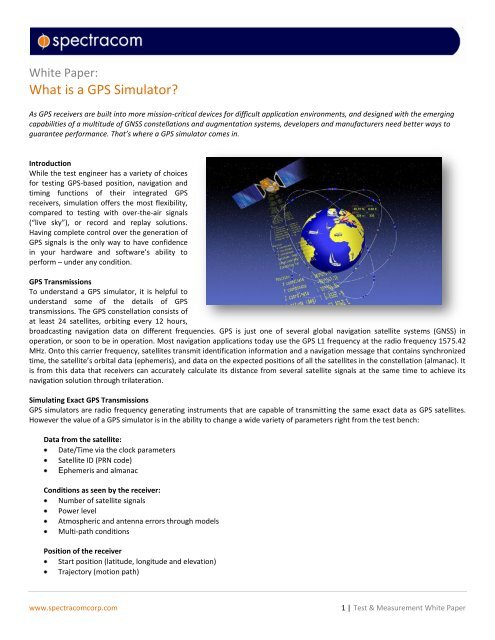What is a GPS Simulator? - Inside GNSS