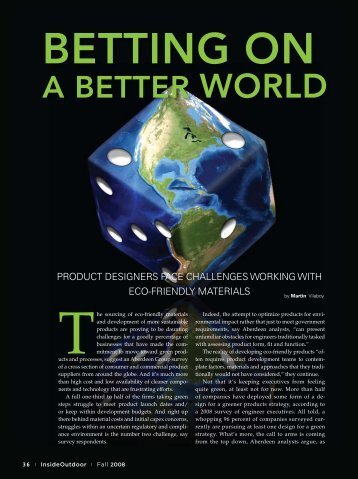 Challenges of Green Design--Fall 2008
