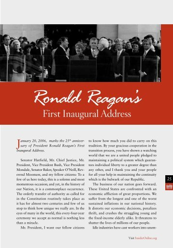 Ronald Reagan's First [PDF] - InsiderOnline