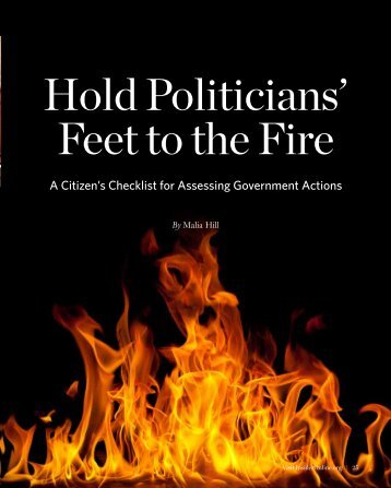 hold Politicians' Feet to the Fire - InsiderOnline.org