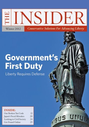 The Insider, Winter 2012 - InsiderOnline