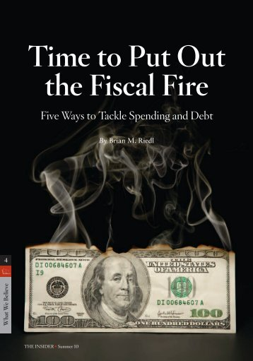 Time to Put Out the Fiscal Fire - InsiderOnline
