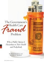 The Government's health Care Problem - InsiderOnline