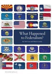 What happened to Federalism? - InsiderOnline.org