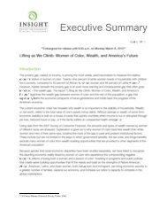 Executive Summary - Insight Center for Community Economic ...