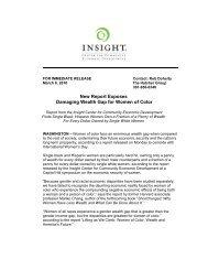 New Report - Insight Center for Community Economic Development