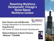 Reworking Workforce Development: Chicago's Sector-Based ...