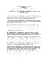 Press Conference Statement. - Insight Center for Community ...
