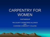 carpentry for women - Insight Center for Community Economic ...