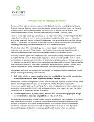 Principles for an Inclusive Economy - Insight Center for Community ...