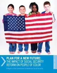plan for a new future: the impact of social security reform on people ...