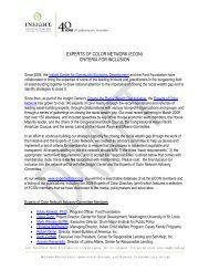 experts of color network (econ) criteria for inclusion - Insight Center ...