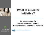 What is a Sector Initiative? - Insight Center for Community Economic ...