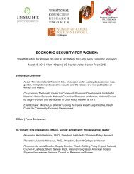 economic security for women - Insight Center for Community ...