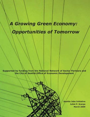 A Growing Green Economy - Opportunities of Tomorrow (2009)