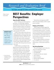 BEST Benefits: Employer Perspectives - Insight Center for ...