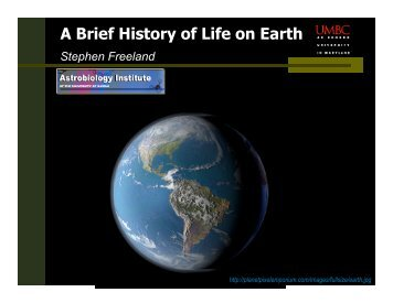 The History of Life on Earth - Insight Cruises