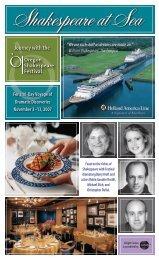Shakespeare at Sea brochure - Insight Cruises