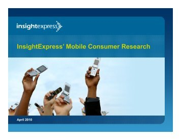 InsightExpress' Mobile Consumer Research
