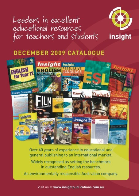 NEW - Insight Publications