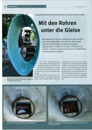Mit den Rohren - Insituform Rohrsanierungstechniken GmbH