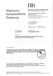 DIBt-Zulassung Insituform-Liner