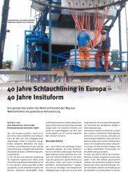 40 Jahre Schlauchlining - Insituform Rohrsanierungstechniken GmbH