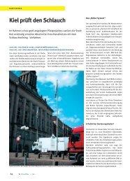 Kiel prüft den Schlauch - Insituform Rohrsanierungstechniken GmbH