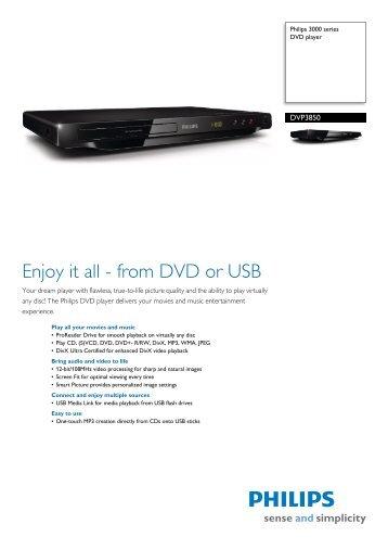 Philips DVP3880K/55 DVD Player XP