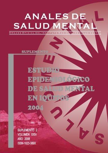 ANALES DE SALUD MENTAL - Instituto Nacional de Salud Mental