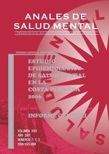 ANALES DE SALUD MENTAL - Instituto Nacional de Salud Mental
