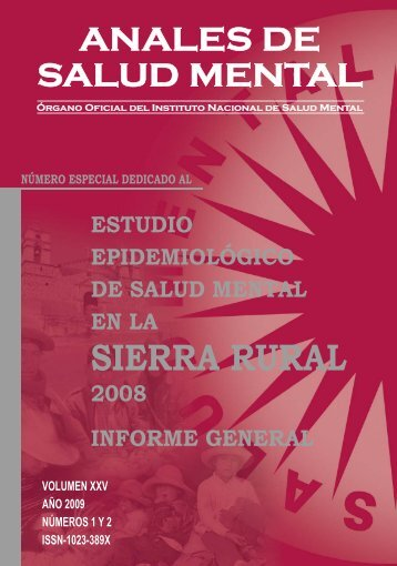 ANALES DE SALUD MENTAL VOL XXV (para pdf).indd - Instituto ...