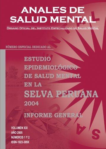 Estudio - Instituto Nacional de Salud Mental