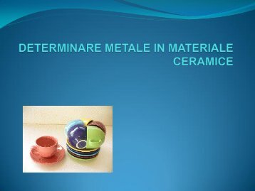 DETERMINARE METALE IN MATERIALE CERAMICE