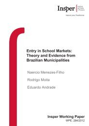 Entry in School Markets: Theory and Evidence from ... - Insper