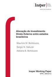 Alocação do Investimento Direto Externo entre estados ... - Insper