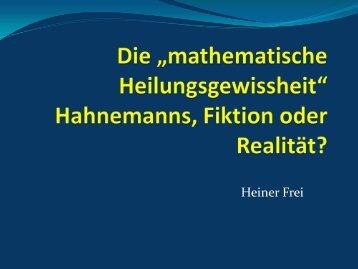 mathematische Heilungsgewissheit - Inspiration Organon