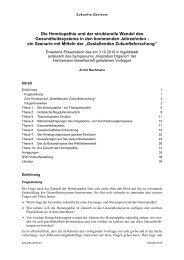 Die Homöopathie und der strukturelle Wandel des ...